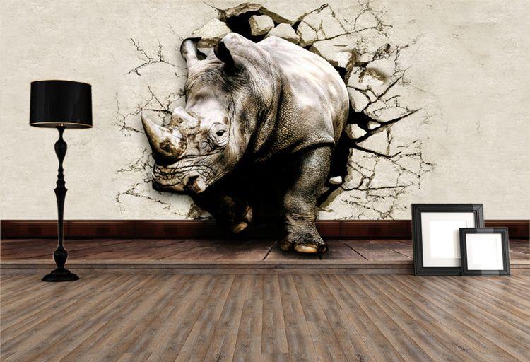 Cute Elephant Design Wallpaper Cool 3d Large View Rhino Kung Fu Panda Elephant Lion