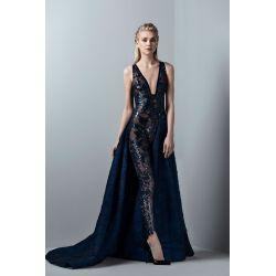 Exquisite Deep V Neck Black Jumpsuit Sexy Design Luxury Prom Dresses Detachableskirt Tulle Applique Evening Gown Formal Dress Party Casual Deep V Neck Black Jumpsuit Sexy Design Luxury Prom Dresses Wi