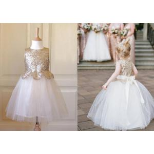 Tempting Sequins Pageant Dresses Bow Knot Dressfor Girl Sequins Pageant Dresses Girls Scoop Sleeveless Flower Girl Dresses Ivory G Kids Ball Gowns Wedding Dress Girls Scoop Sleeveless Flower Girl