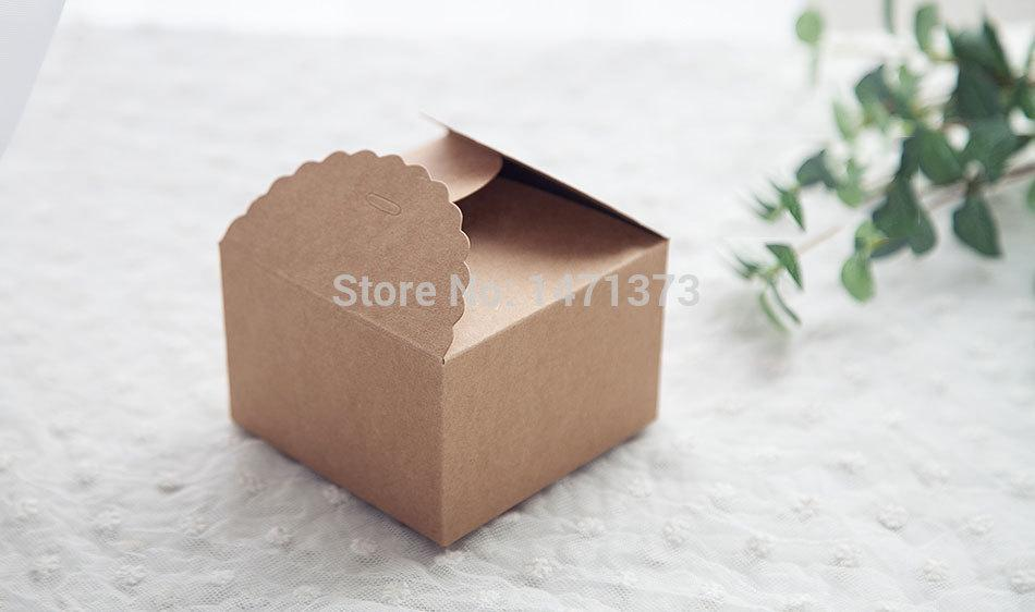 2019 Kraft Paper Gift Boxes Rustic Wedding Candy Box Party