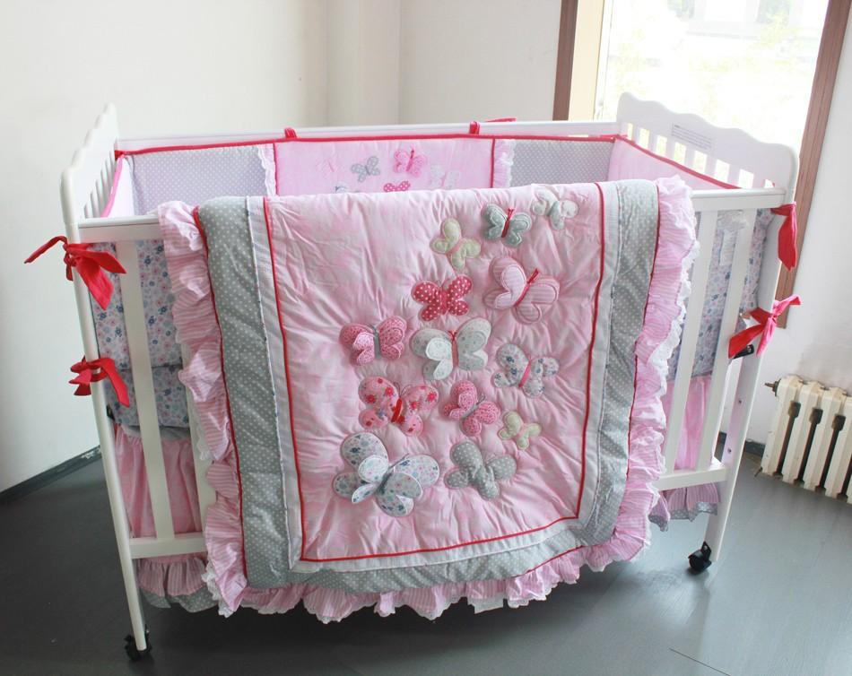 Cot Bed What Age Wholesale 2016 Baby Bedding Sets Embroidery 3d Butterfly