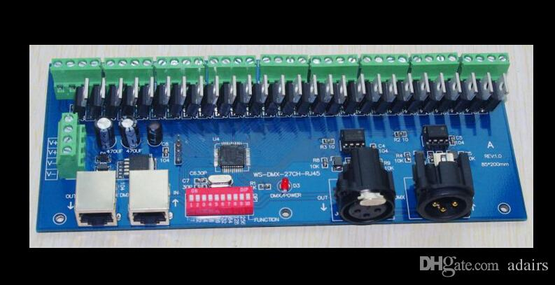 2019 Dmx 512 Channel/27 Channel Easy DMX LED Controller Decoder