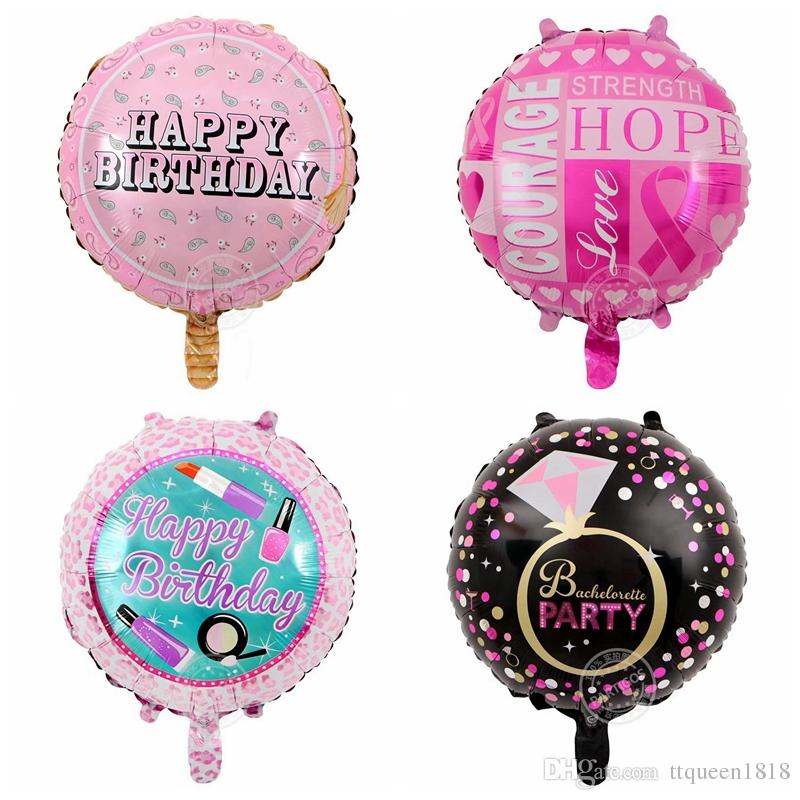 45*45cm Print Happy Birthday Foil Balloons Helium Inflatable Air