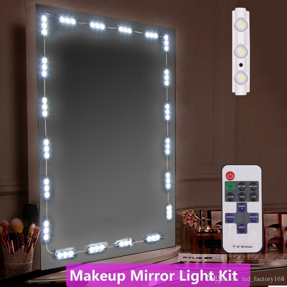 Badezimmer Beleuchtung Hell Badezimmer Make Up Spiegel Licht 10ft 60led Spiegel Mit Fernbedienung Und Dimmer Vanity Licht Kit Diy Kosmetik Hollywood Make Up Spiegel