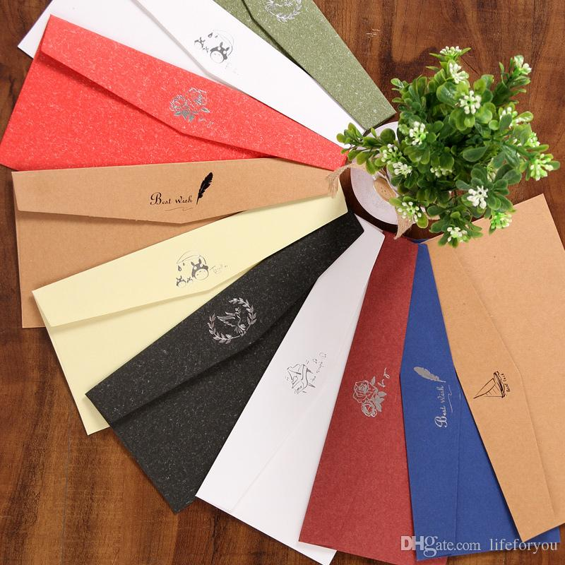 6 Designs Mixed Envelopes For Invitations Card, Envelope For