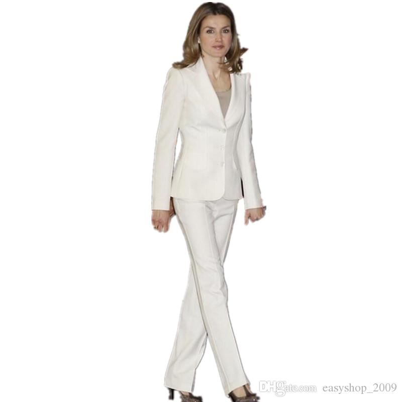 Online Cheap White Hot Design Bussiness Formal Elegant Women Suit - women suits pant