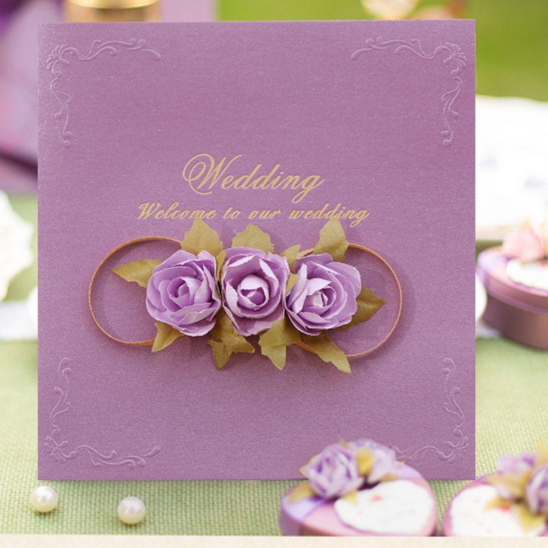 Rose Wedding Invitation Card Design Free Customized Printing Wedding