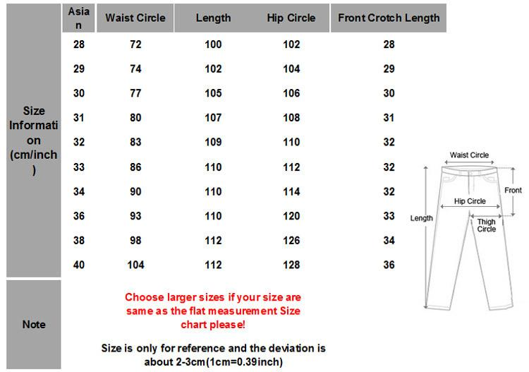 best Mens European Pants Size Conversion image collection