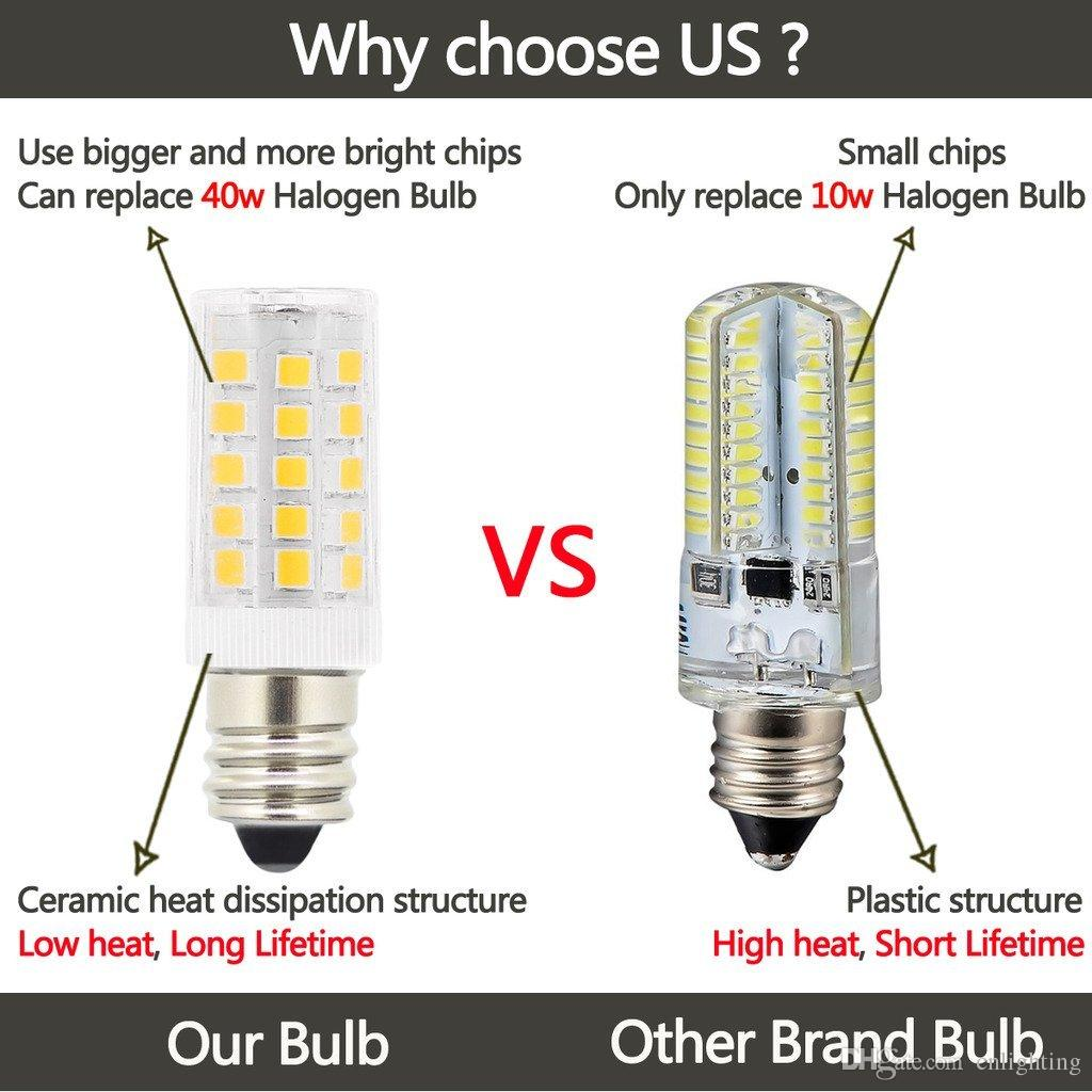 5 Watt Led 10pc 5w T3 E12 Candelabra Base Led Bulbs 40 Watt Incandescent Bulb Replacement 120 Volts 400lm Natural Daylight White 4000k Led Light Bulbs