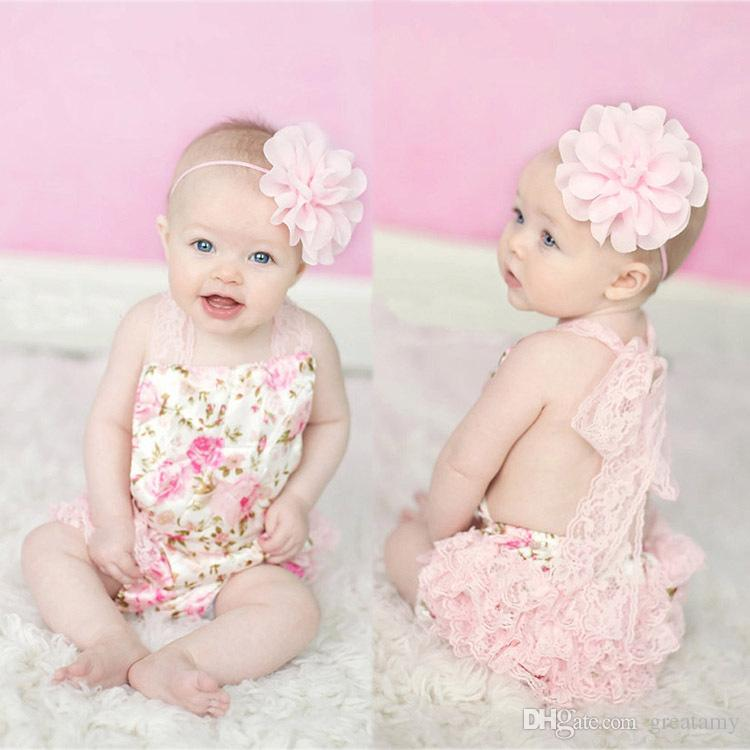 2019 Summer Babies Rompers Newborn Baby Clothes Hanging Neck Baby