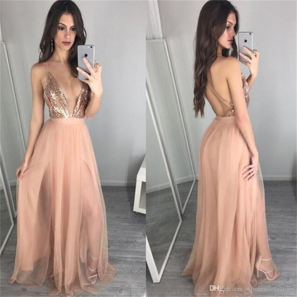 Congenial Sexy Halter A Line Prom Dresses Plugging V Neck Backless Prom Gowns Sequin Custom Made Evening Party Dresses 2017 Prom Dresses Aqua Promdresses Sexy Halter A Line Prom Dresses Plugging V Nec wedding dress Halter Top Dresses