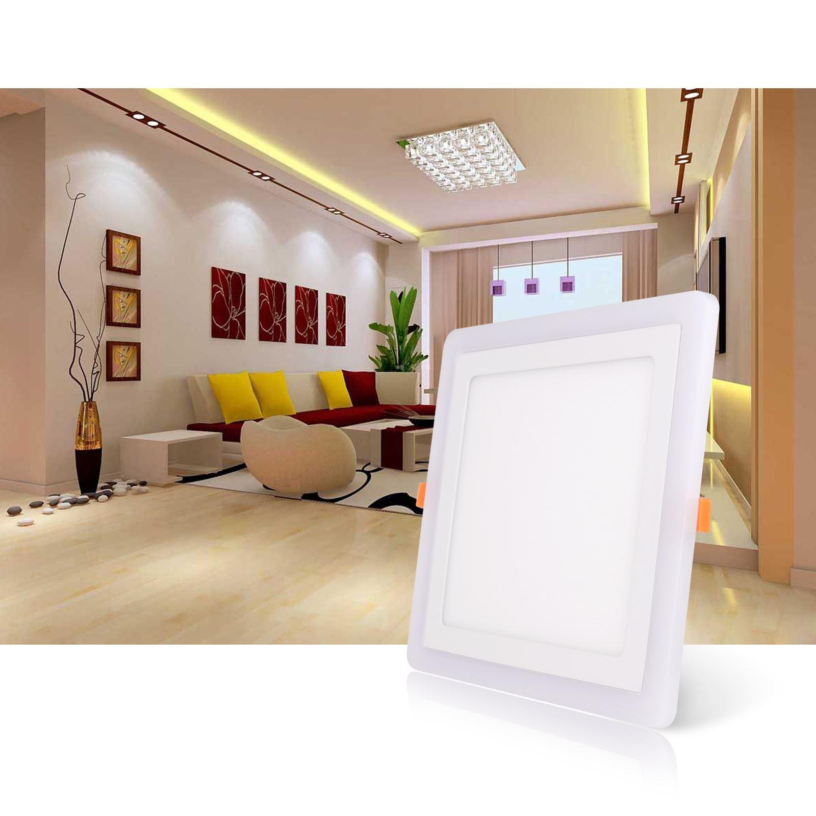 Home Office Club New Arrvial Rgbw Dual Color Led Ceiling Recessed Square Panel Downlight Spot Light Lamp For Home Office Club Ce Rohs Listed
