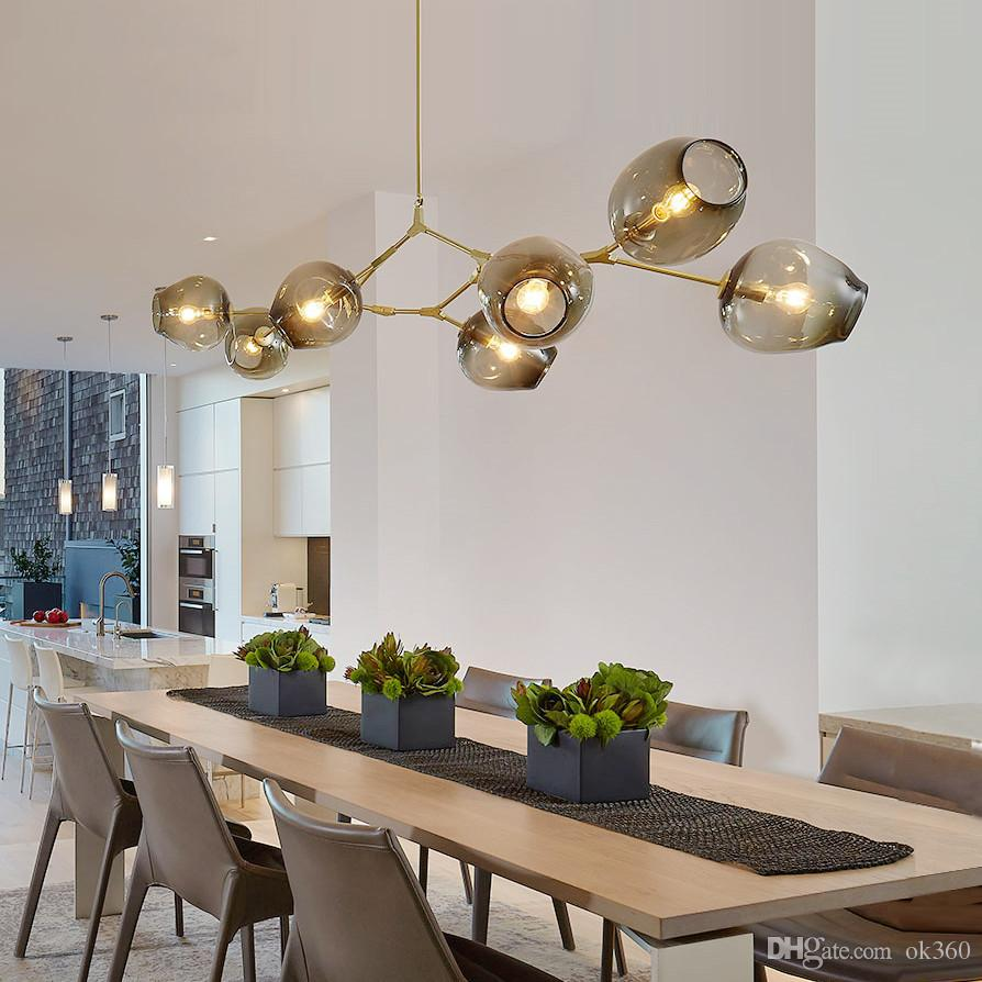 Suspensions Cuisine Lindsey Adelman Globe Lampe De Suspension En Verre Branching Bubble Moderne Chandelier Light Pour Cuisines Cafés Boutiques