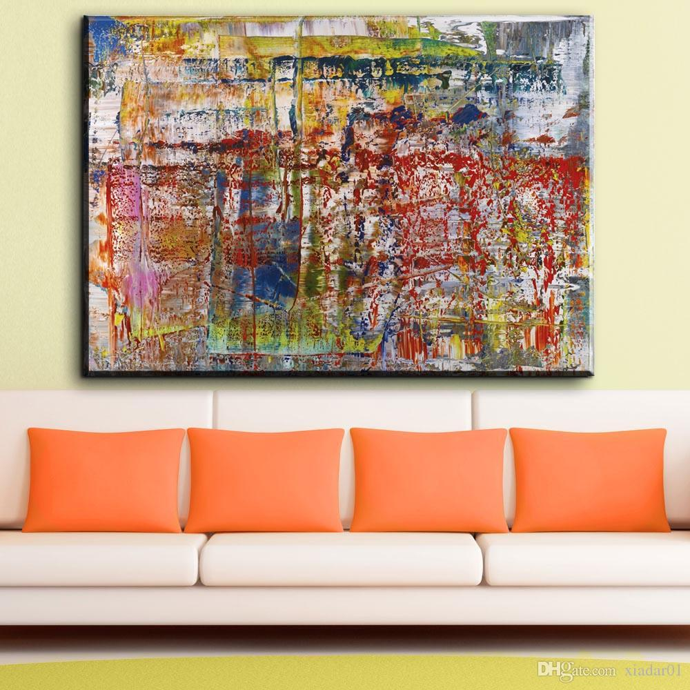 Abstract Art Prints On Canvas Zz1851 Modern Abstract Canvas Art Gerhard Richter Abstract Painting Modern Art Image For Home Decoration Canvas Prints Art Decor