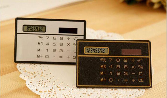 2019 Slim Credit Card Solar Power Pocket Mini Calculator Novelty