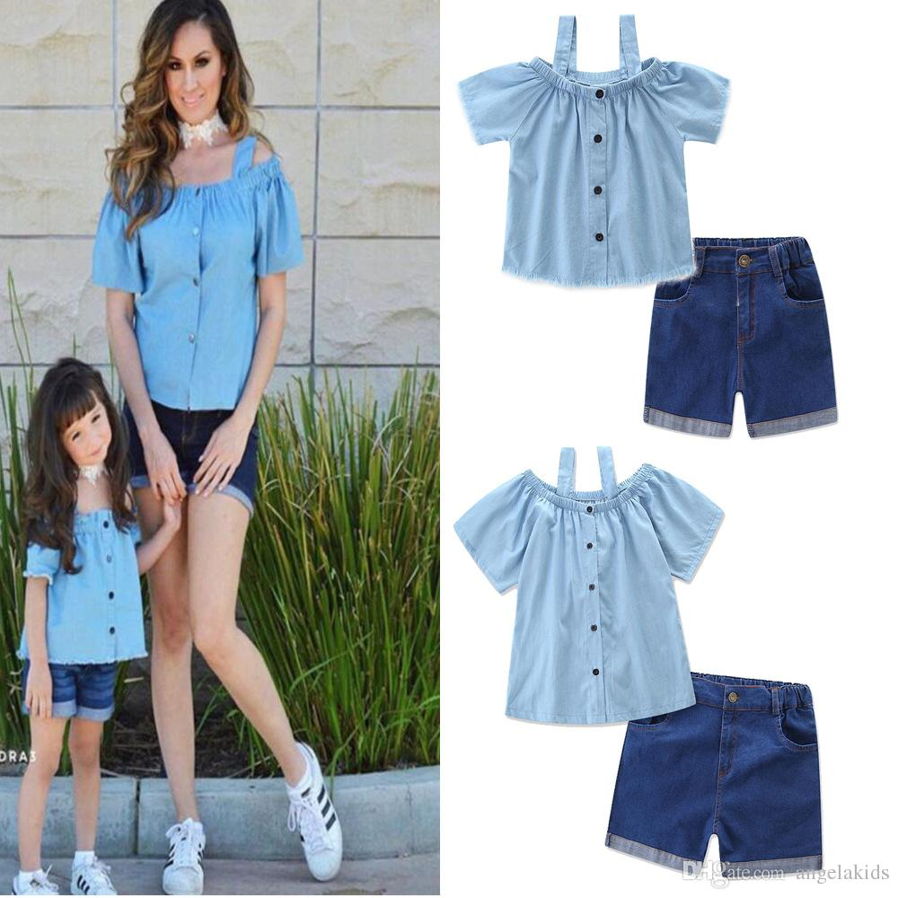 Outfits 2017 Mother And Daughter Clothes Family Look 2017 Summer Family Clothing Mother Daughter Dress Family Matching Outfits Cotton