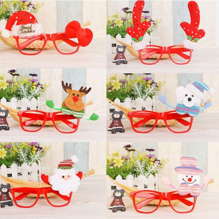 Cute Kids Christmas Decorative Glasses Frame Children Christmas