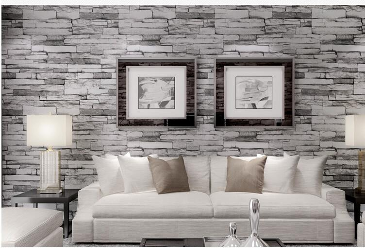 3d Wallpaper Hd For Living Room In India Hot 3d Luxury Wood Blocks Effect Brown Stone Brick 10m