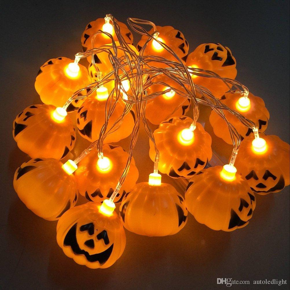 Led Halloween Lights Halloween Light 16 Led 2 5m Home Bar Party Decoration Pumpkin Colorful Led String Light Fairy Lights Festival Lamp Skeleton Lantern Lamp