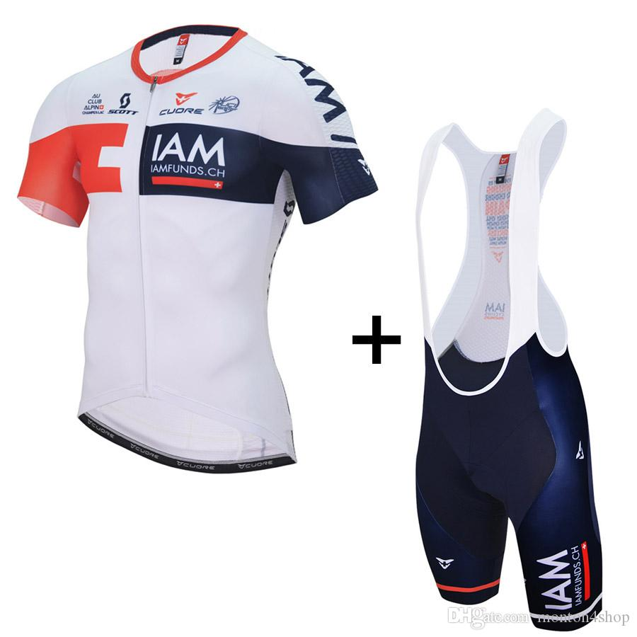Cycling Clothing Mens Iam Gold Team Cycling Jersey 2018 Maillot Ciclismo Road Bike Clothes Bicycle Cycling Clothing D11