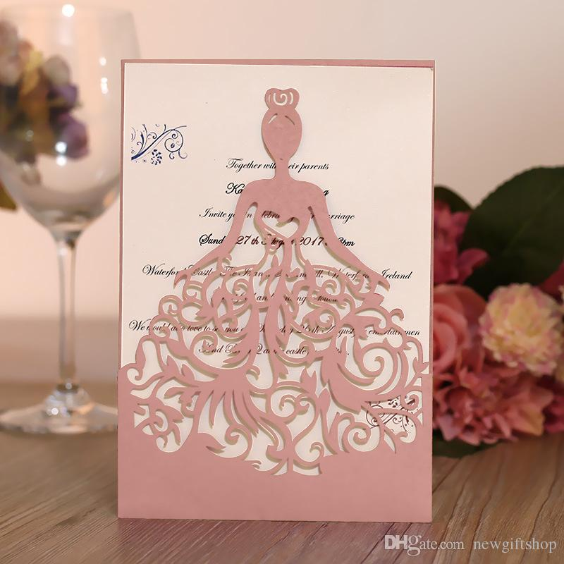Multi Customized Color Wedding Invitation Cards With Envelope+Seal