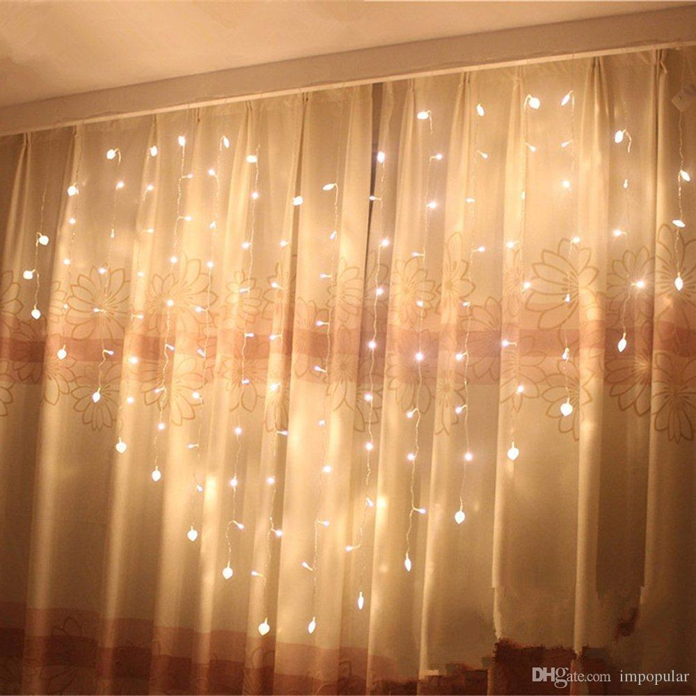 How To Make Curtain Lights Impopular Romantic Led Heart Shaped String Curtain Lights 2m 1 5m 8 Modes Heart Shape String Fairy Lights For Bedroom Wedding Christmas