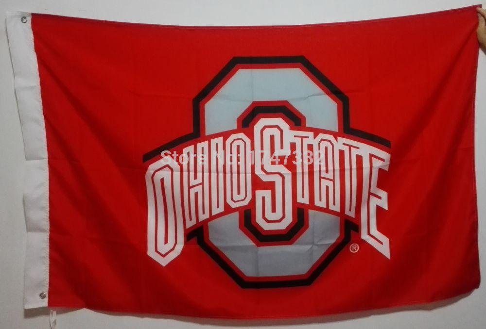 Wholesale The Ohio State University Buckeyes Usa Ncaa Flag Hot Sell - ncaa home office
