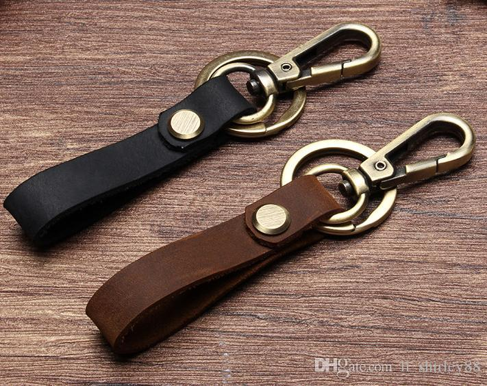 Real Leather Keychain Chain Key Ring Accessories Birthday