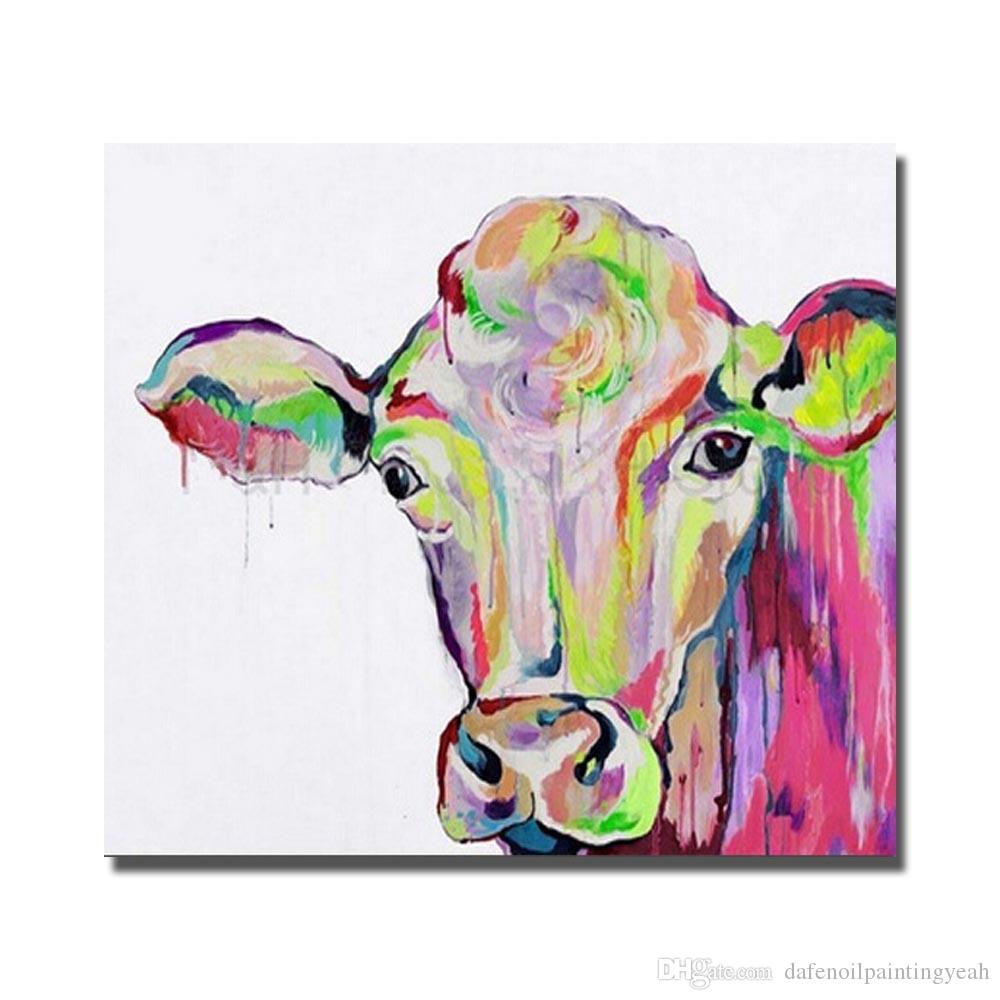Jolly Living Room Wall Hand Painted Oil Painting Living Room Wall Hand Painted Oil Painting Homedecor Wall S Canvas Art Cheap No Framed Ful Cow Art Painting Ful Cow Art Painting home decor Cow Home Decor