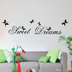 Noble Dreams Butterfly Wall Stickers Househ Wall Adornment Backgroundbedroom Waterproof Pvc Wallpaper Can Be Removed Removable Wall Decals Forbedroom Dreams Butterfly Wall Stickers Househ Wall Adornme