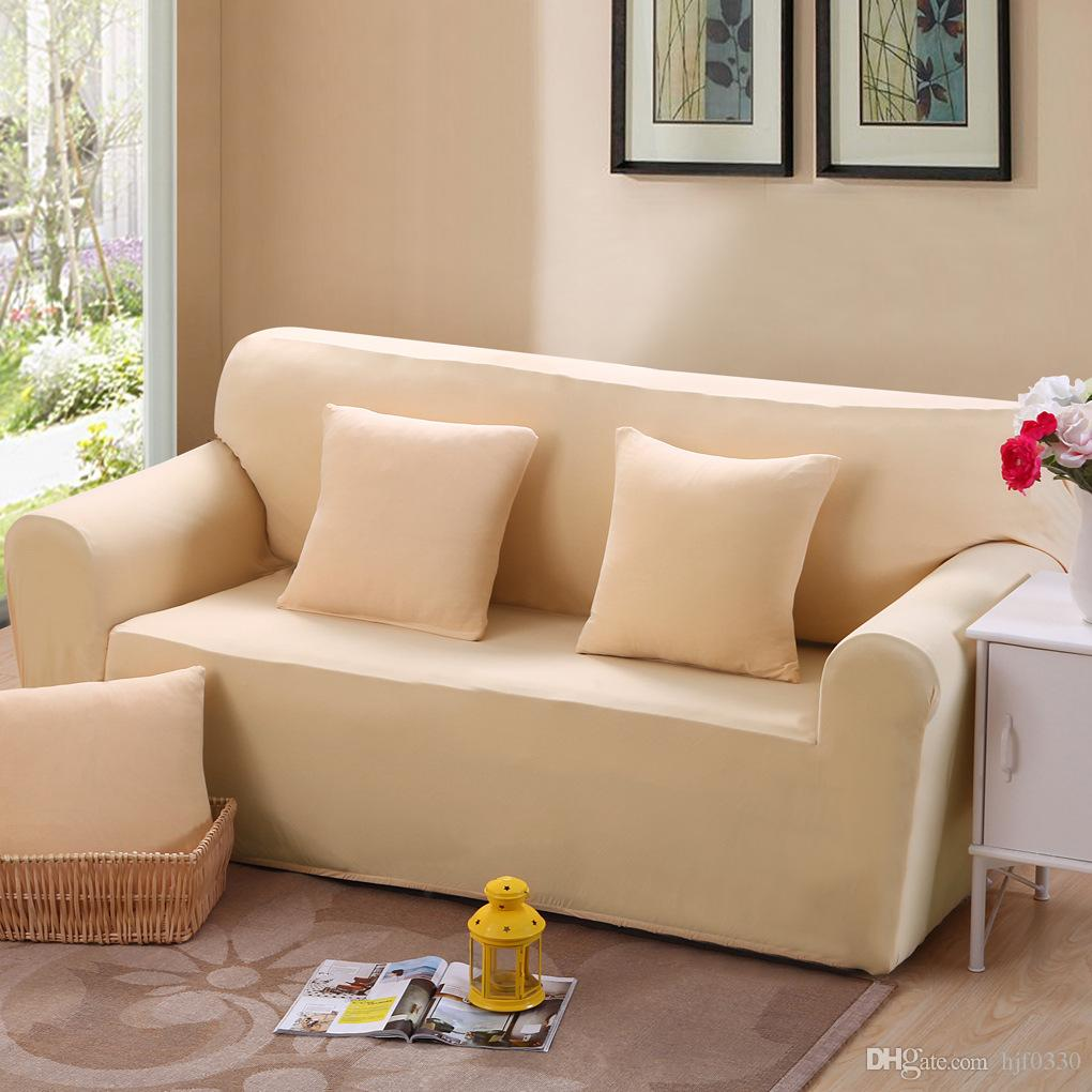 Sofa Sets In Living Room Solid Color Sofa Sets All Inclusive Full Cover Sofa Cover Slipcover With Elastic 1 2 3 4 Seat Sofa Sets Living Room