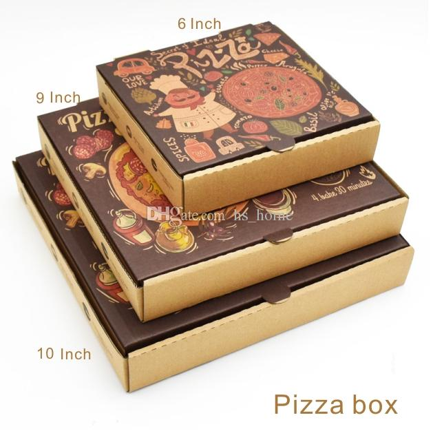 2018 6 9 10 Inch Pizza Box Wood Pulp Environmental Non Toxic Non