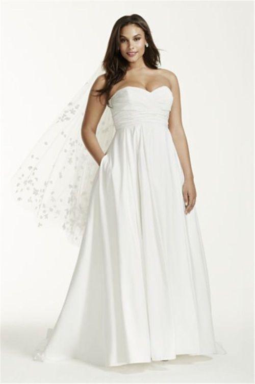 Medium Of Empire Waist Lace Wedding Dress