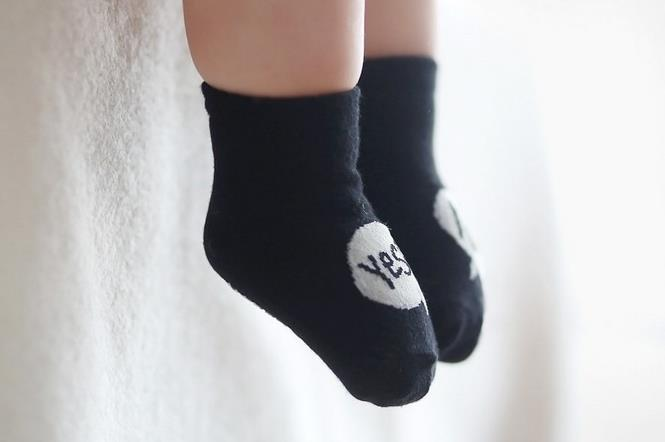 Spring Kids Socks Cute Yes No Boys Girls Cotton Infant