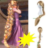 New Movie Tangled Princess Rapunzel Wig Extra Long Blonde ...