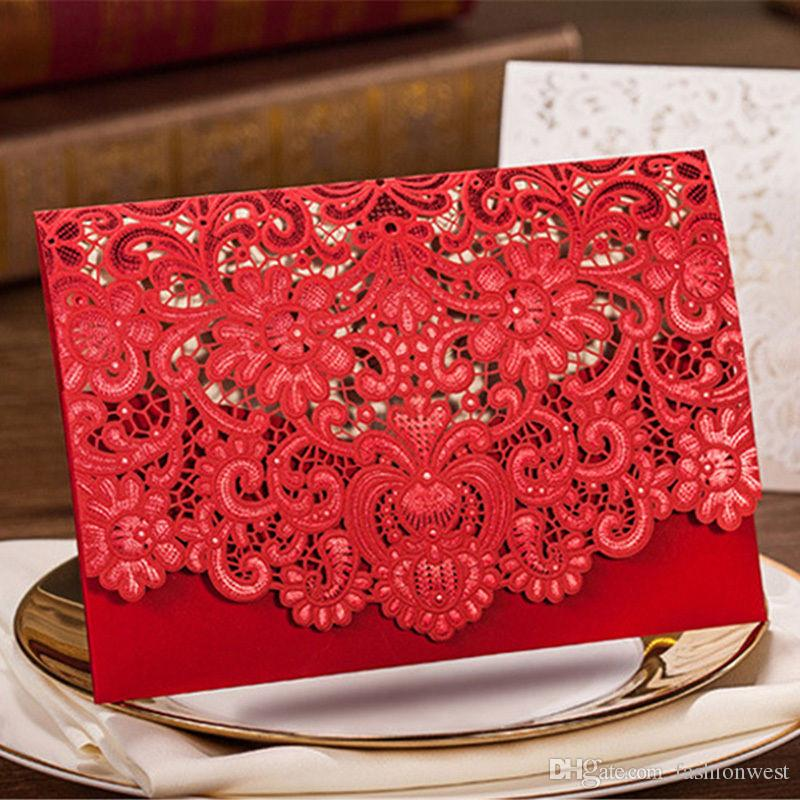 Wedding Invitation 2016 New Patter Red Sample Personalised Handmade - Best Of Handmade Formal Invitation Card