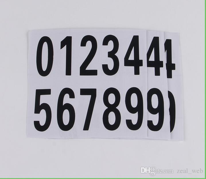 1000sheet Number 0~9 Product Labels Pressure-sensitive Adhesive PVC