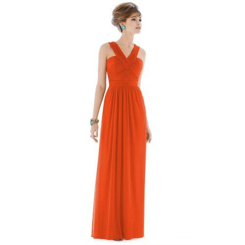 Medium Crop Of Orange Bridesmaid Dresses