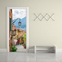 Creative Diy 3d Door Mural Sticker Old Town Living Room ...