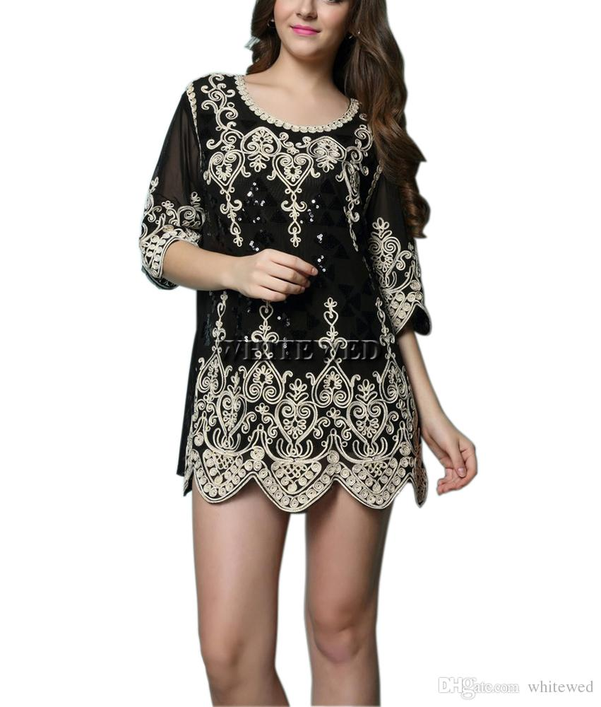 Cordial Flapper Style Party Tunic Costumes Gatsby Dresses Withsleeves Gatsby Fashion Gatsby Inspired Fashiononline Bling Embroideried Art Deco Med Flapper wedding dress 1920s Inspired Dresses