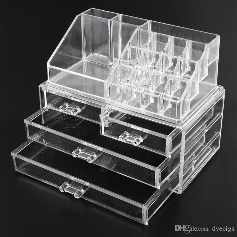 Acrylic Cosmetic Makeup Organizer Jewelry Display Boxes