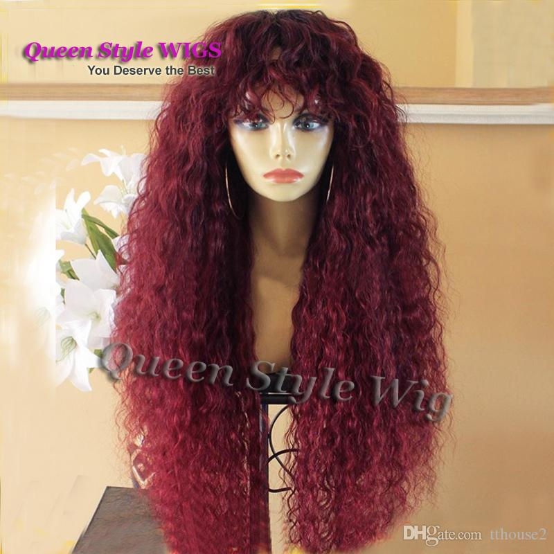Premium Natural Water Beach Curly Hair Wig Synthetic Heat Resistant