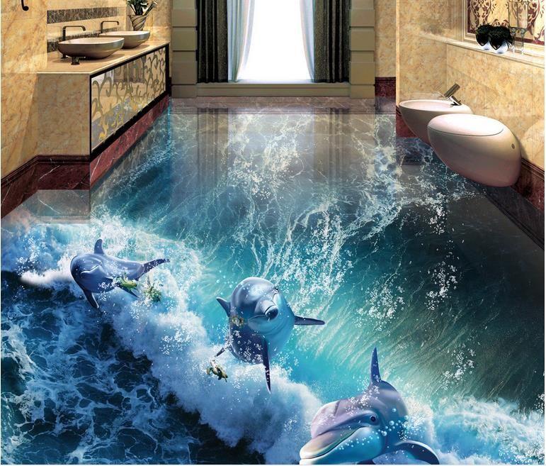 3d Stereoscopic Mural Wallpaper 3d Floor Murals Customized 3d Stereoscopic Wallpaper