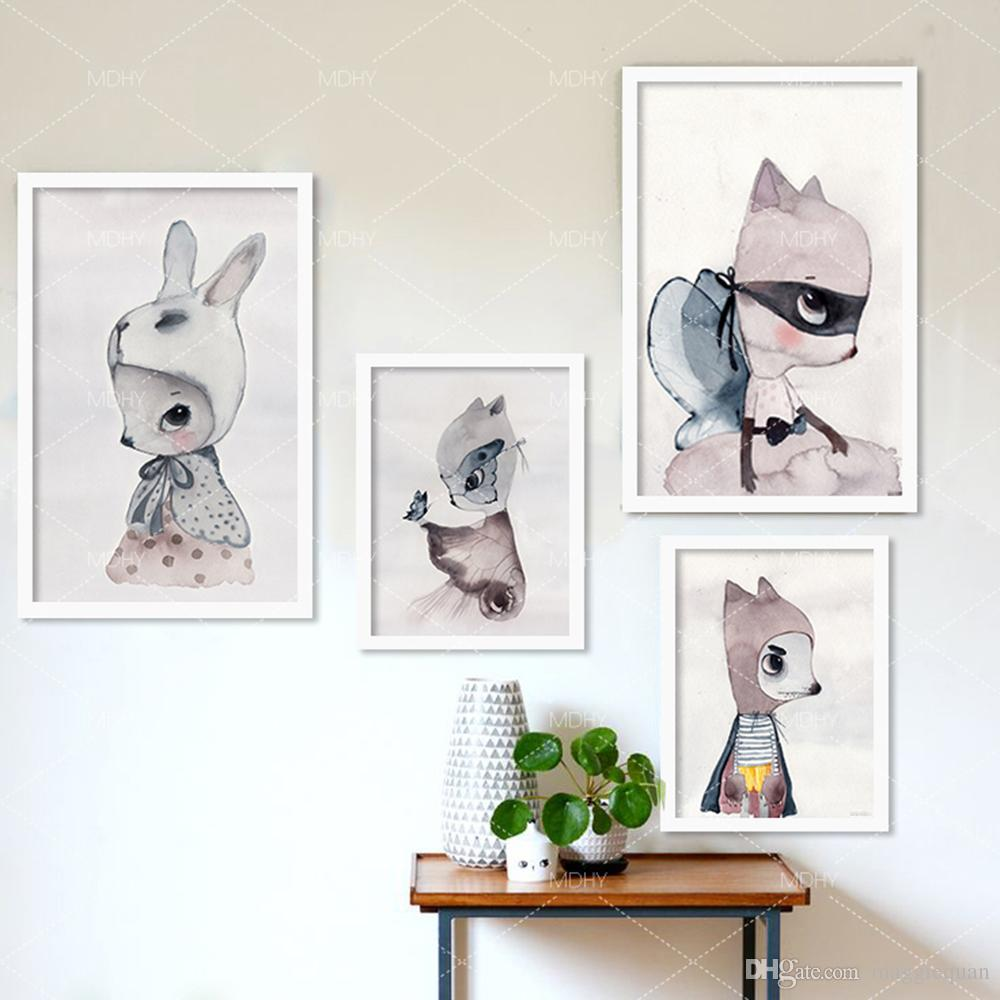 Wall Art Prints And Posters Nordic Decoration Girls Wall Art Prints Canvas Posters And Prints Wall Paintings Nursery Wall Picture Girl Kids Room Cuadros Poster No Frame