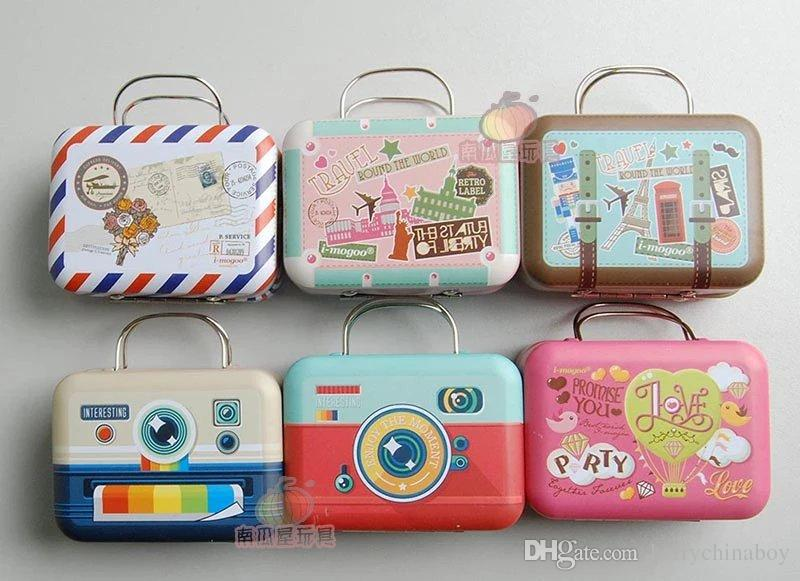 16 Trunk Box Metal Suitcase Mini Storage Box For Doll