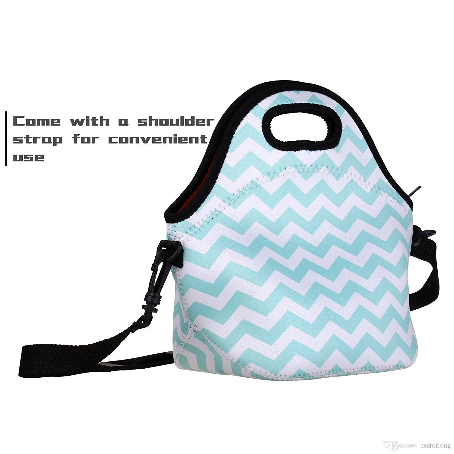 2018 Neoprene Lunch Bag Thick Insulated Tote Lunch Box Bag