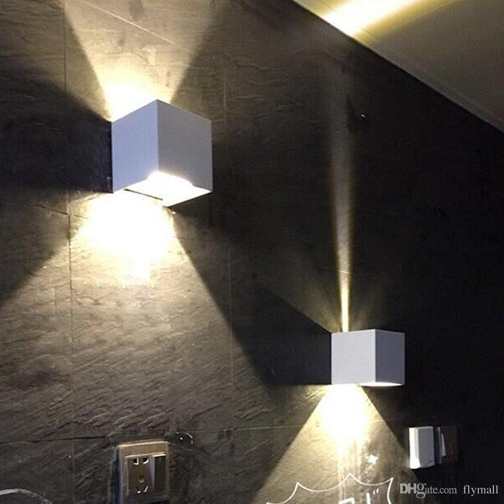 Lighting Wall Lights New Cob 7w 12w Led Aluminum Wall Sconces Adjustable Angle Surface Mounted Outdoor Cube Lamp Led Indoor Wall Lamp Up Down Wall Lights