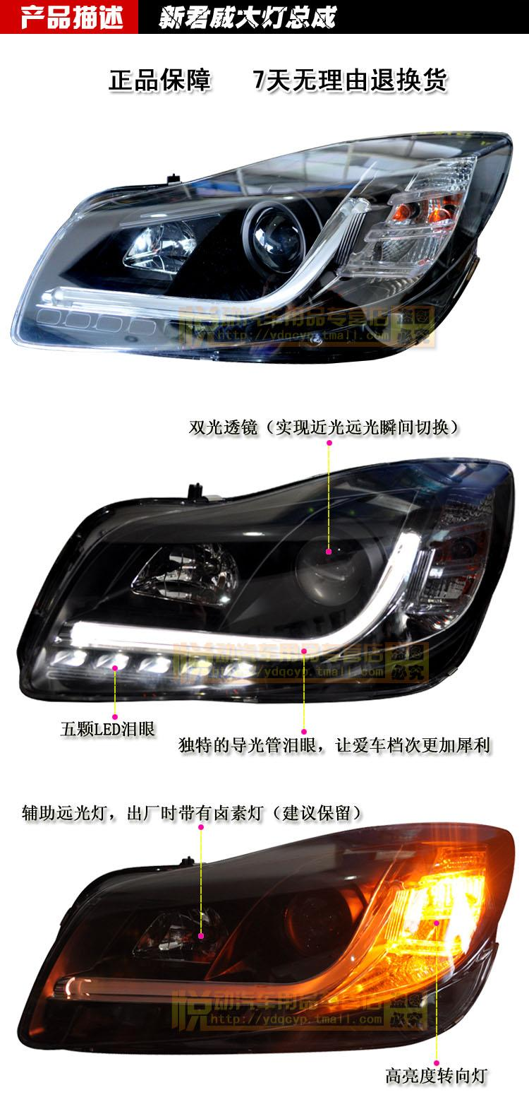 Regal Led Headlamp For Xiushan Sonar New Regal Xenon Headlamps Double Optical Lens Light Guide Assembly With Led Modified Headlamps