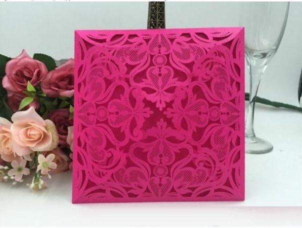 Cheap Dark Royal Blue Laser Cut Wedding Invitations Cards Hollow - online engagement invitation cards free