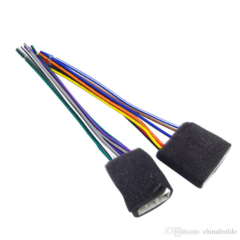 LEEWA Car CD Player Radio Audio Stereo Wiring Harness Adapter Plug